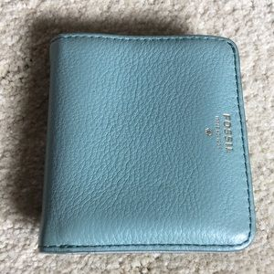 Dusty aqua fossil wallet